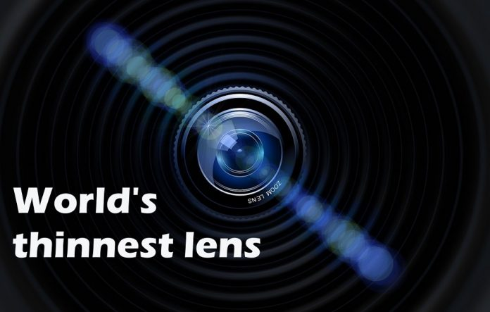 World's thinnest lens