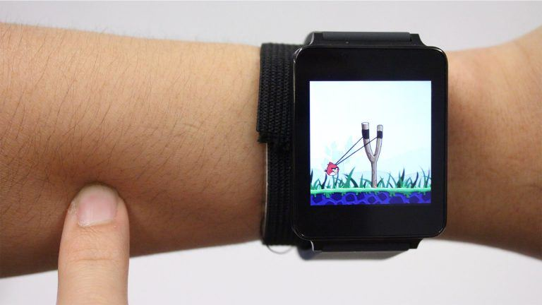 Skin Track – Technology that turns your skin into touchscreen