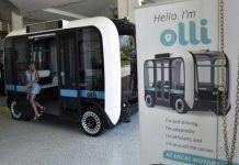 Olli, a 3D printed, self-driving minibus