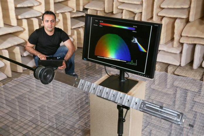 Acoustic prism split sound into its elements frequencies