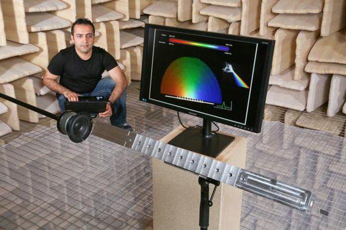 Acoustic prism split sound into its elements frequencies