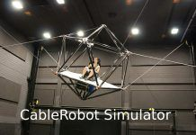 Cable Driven Simulator Ever Aboard The High-Speed CableRobot