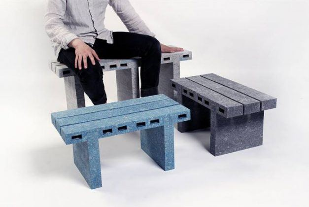Tough, Fancy, And Recycled PaperBricks Furniture