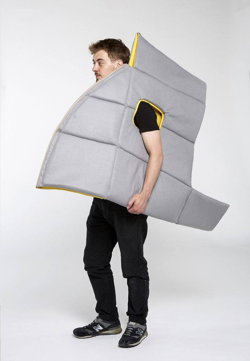Sharkman: A Soft Wearable Furniture You Can Work And Sleep In