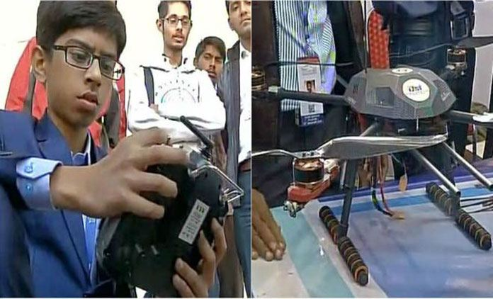 An Indian Student Develop an Anti Landmine Drone to Detect and Diffuse Landmines at War Place
