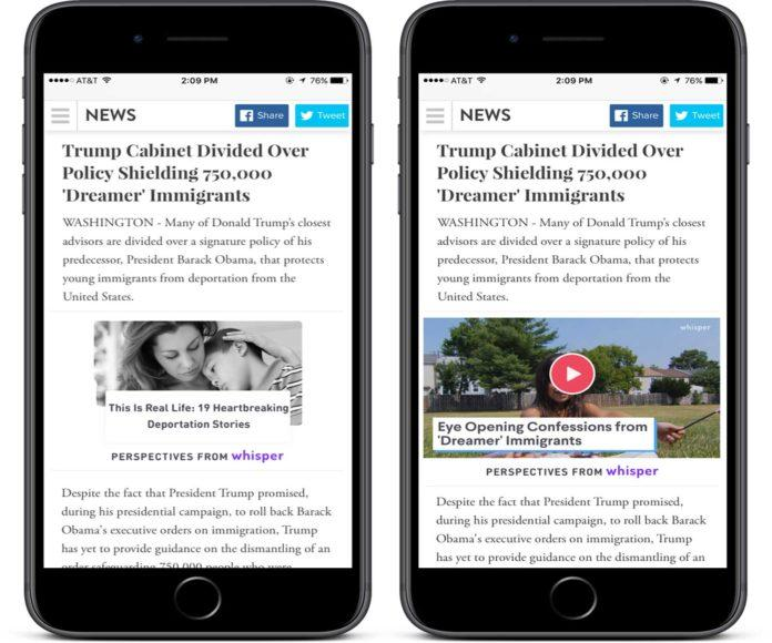 Whisper Launches New Tool To Create Automate Article from its User-Generated Content