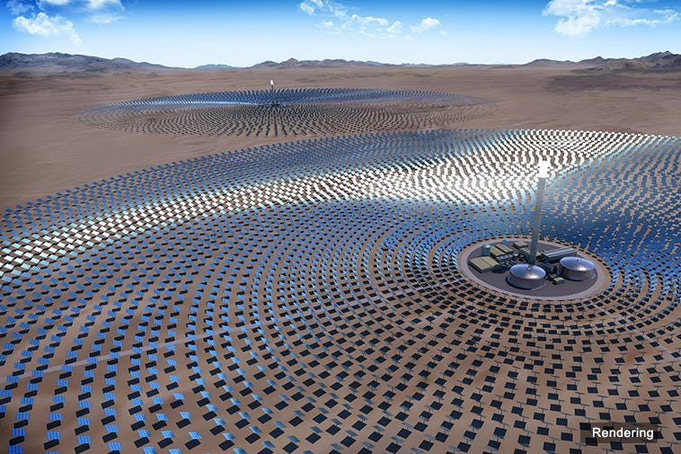 Engineers are Building the World's Largest Single-Tower Solar Thermal Plant