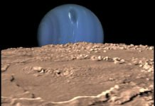 Catching the Shadow of the Neptunian Moon