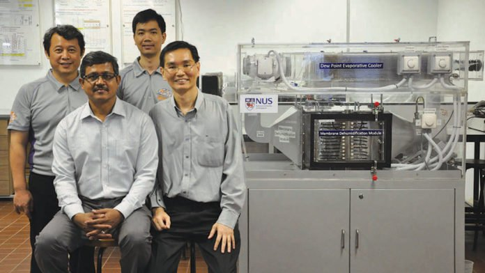 NUS scientists developed eco-friendly and energy-saving air-conditioner