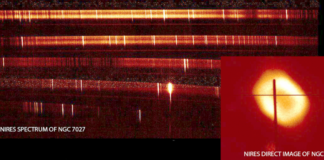 NIRES Instrument has captured its first spectral image
