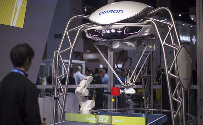 OMRON developed a Forpheus robot to read human feelings