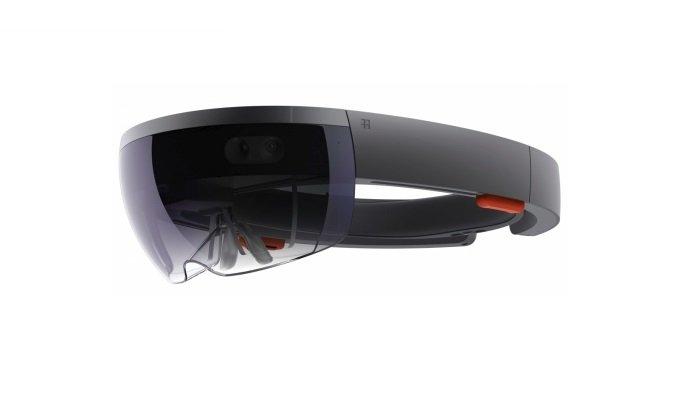 The Microsoft HoloLens headset