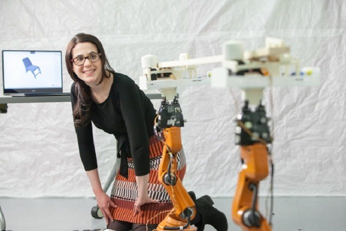 PhD student Adriana Schulz was co-lead on AutoSaw, which lets nonexperts customize different items that can then be constructed with the help of robots