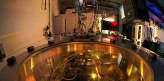 Measuring chamber at TUM's Department of Physics