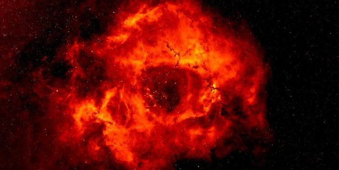 Rosette Nebula image is based on data obtained as part of the INT Photometric H-Alpha Survey of the Northern Galactic Plane,
