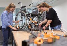 Team creating Wheelchair fencing