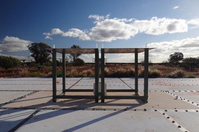 A view of the EDGES antenna, in western Australia  Image: Judd Bowman/Arizona State University