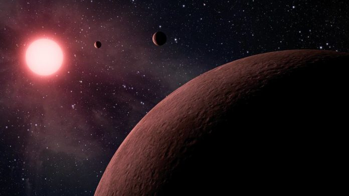 illustration of exoplanet