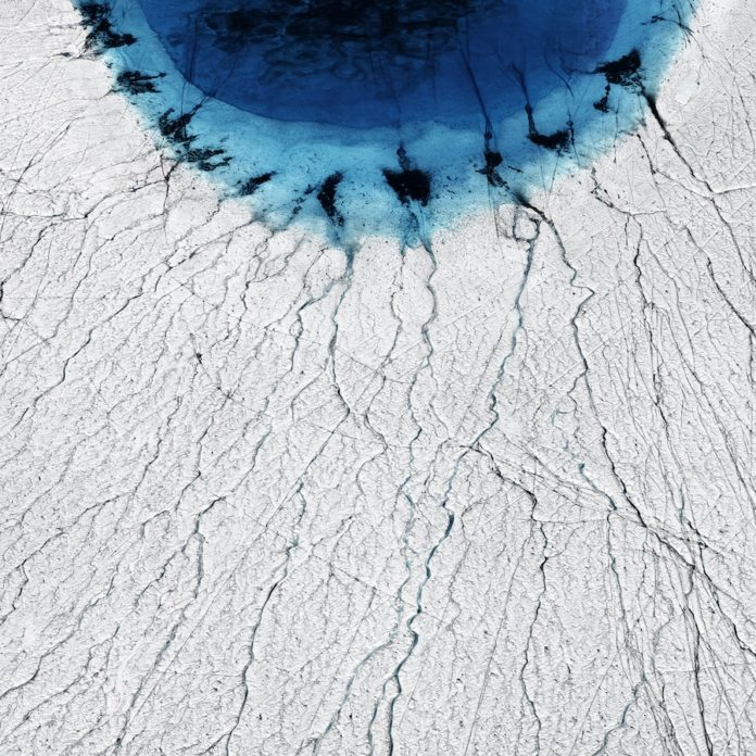 Melting of Greenland ice sheet forms lakes that drain in summer Credit: Timo Lieber