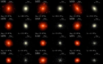 Calalog of the studied dwarf galaxies' haloes. © 2018 EPFL/LASTRO