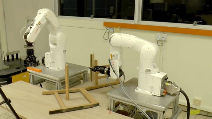 Robot by NTU Singapore builds an IKEA chair