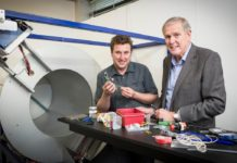 Professor Anthony Butler (left) and his father Professor Phil Butler have built the MARS spectral (colour) CT scanner, and demonstrated that the colour information can give novel functional information and novel molecular information.