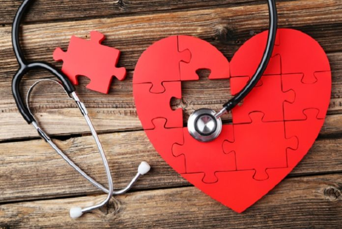 Image of a puzzle heart and stethoscope