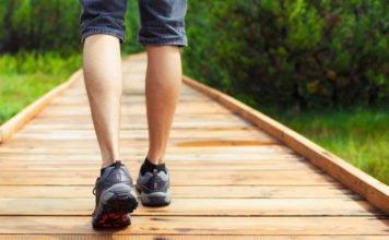 person walking,leg ulcers
