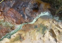 This acid stream in St Oswald's Bay, Dorset, mimics Mars' environment from billions of years ago