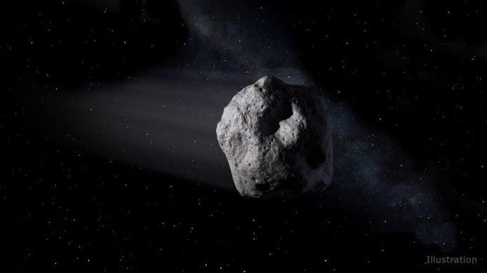 Artist's concept of a near-Earth object. Credits: NASA/JPL-Caltech