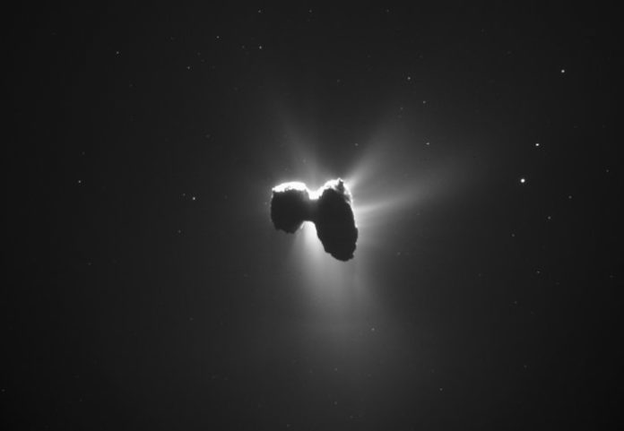 Comet 67P. Credit: ESA