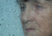 elderly, sad and lonely women suffering from depression