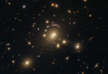 This image, taken with the Wide Field Camera 3 (WFC3) on board the NASA/ESA Hubble Space Telescope, shows the galaxy cluster SDSS J1336-0331. Image credit: NASA / ESA / Hubble.