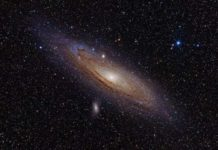 The Andromeda galaxy. Credit: Adam Evans.