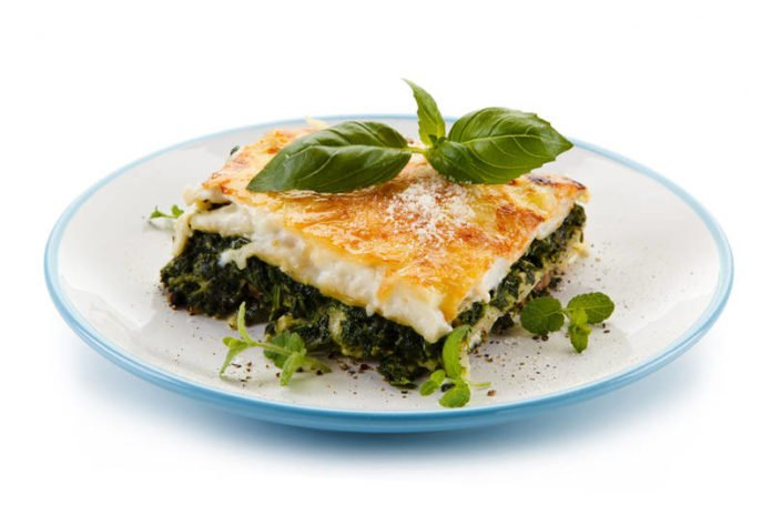 For the tests of the study, subjects consumed a high-carbohydrate meal such as such a vegetable lasagna