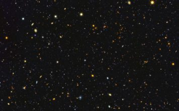 Astronomers have just assembled one of the most comprehensive portraits yet of the universe's evolutionary history, based on a broad spectrum of observations by the Hubble Space Telescope and other space and ground-based telescopes. In particular, Hubble's ultraviolet vision opens a new window on the evolving universe, tracking the birth of stars over the last 11 billion years back to the cosmos' busiest star-forming period, about 3 billion years after the big bang. This photo encompasses a sea of approximately 15,000 galaxies — 12,000 of which are star-forming — widely distributed in time and space. This mosaic is 14 times the area of the Hubble Ultra Violet Ultra Deep Field released in 2014. Credits: NASA, ESA, P. Oesch (University of Geneva), and M. Montes (University of New South Wales)