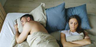 Sleepless couple, depressed spouse