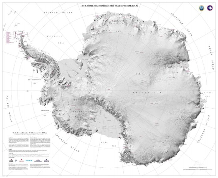 New terrain map of Antarctica accurately depicts continent in