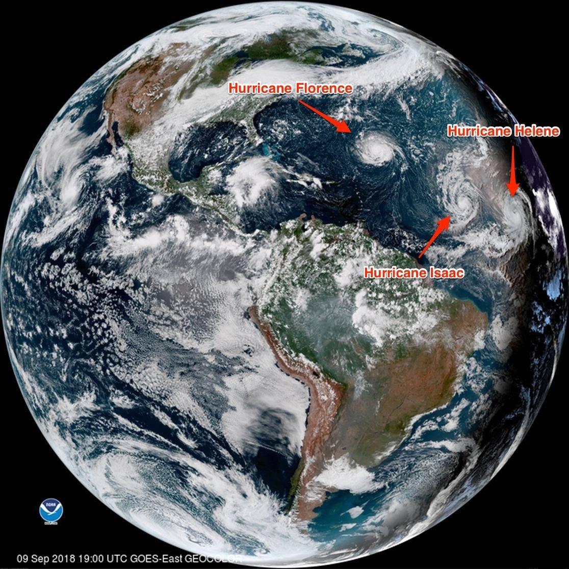 Hurricane Florence, Hurricane Isaac, and Hurricane Helene, NOAA