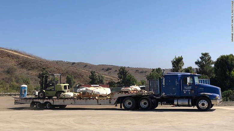 The bones found at a landfill construction site in San Juan Capistrano, California