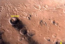 Gale crater as seen by Mars colour camera on board Mars Orbiter Mission (Photo : ISRO)