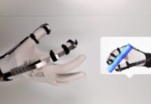 "Ultra-light glove lets users ""touch"" virtual objects"