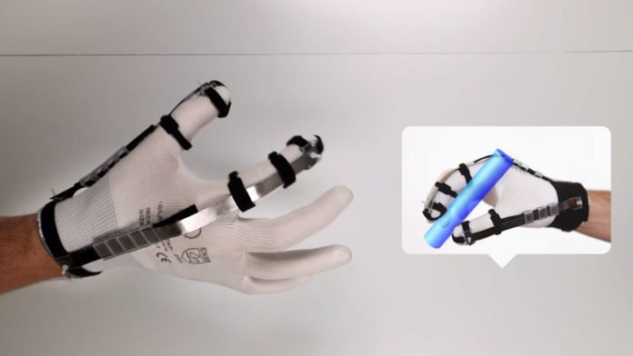 """Ultra-light glove lets users """"touch"""" virtual objects"""