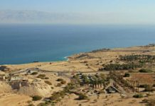 ANCIENT WIPEOUT Preliminary evidence indicates that a low-altitude meteor explosion around 3,700 years ago destroyed cities, villages and farmland north of the Dead Sea (shown in the background above) rendering the region uninhabitable for 600 to 700 years.