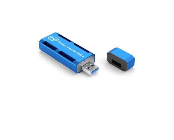 Intel Corporation introduces the Intel Neural Compute Stick 2 on Nov. 14, 2018, at Intel AI Devcon in Beijing. Designed to build smarter AI algorithms and for prototyping computer vision at the network edge, the Intel Neural Compute Stick 2 enables deep neural network testing, tuning and prototyping, so developers can go from prototyping into production. (Credit: Intel Corporation)