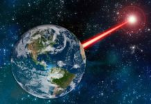 An MIT study proposes that laser technology on Earth could emit a beacon strong enough to attract attention from as far as 20,000 light years away