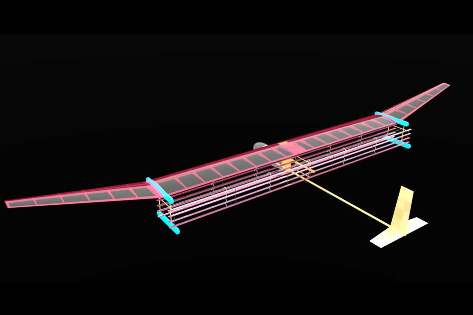 A general blueprint for an MIT plane propelled by ionic wind. The system may be used to propel small drones and even lightweight aircraft, as an alternative to fossil fuel propulsion. Image: MIT Electric Aircraft Initiative