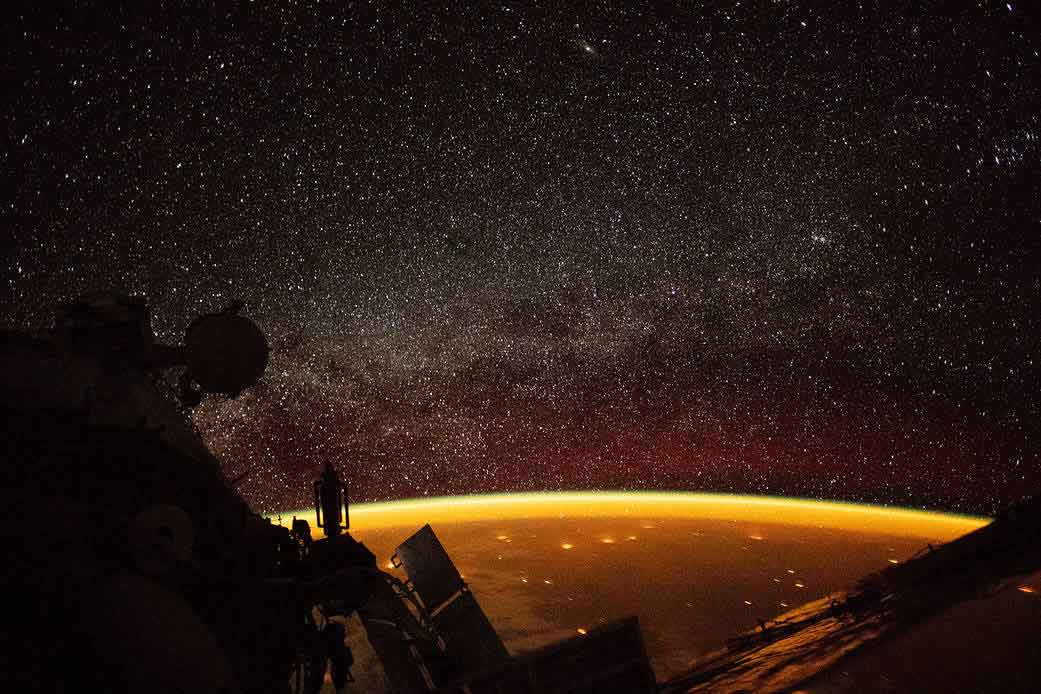 There Is An Eerie Orange Glow Above Earth