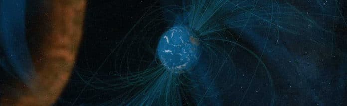 conceptual animation depicting an MMS observation of magnetic reconnection. Credit: NASA/Goddard/Conceptual Image Lab