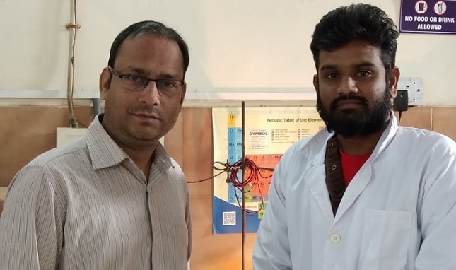Dr. Srivastav and his colleague at their lab